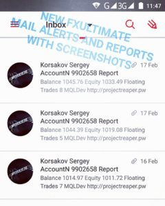 forex robot mail alerts with screenshots 1