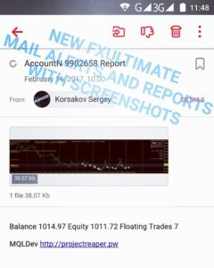 forex robot mail alerts with screenshots