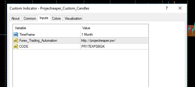 Projectreaper Custom Candles settings