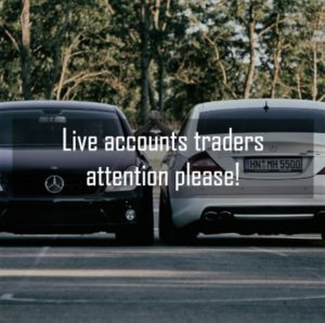 live accounts traders attention please